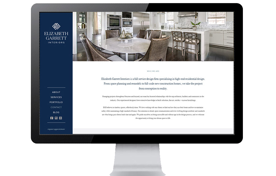 Custom Interior Designer Website