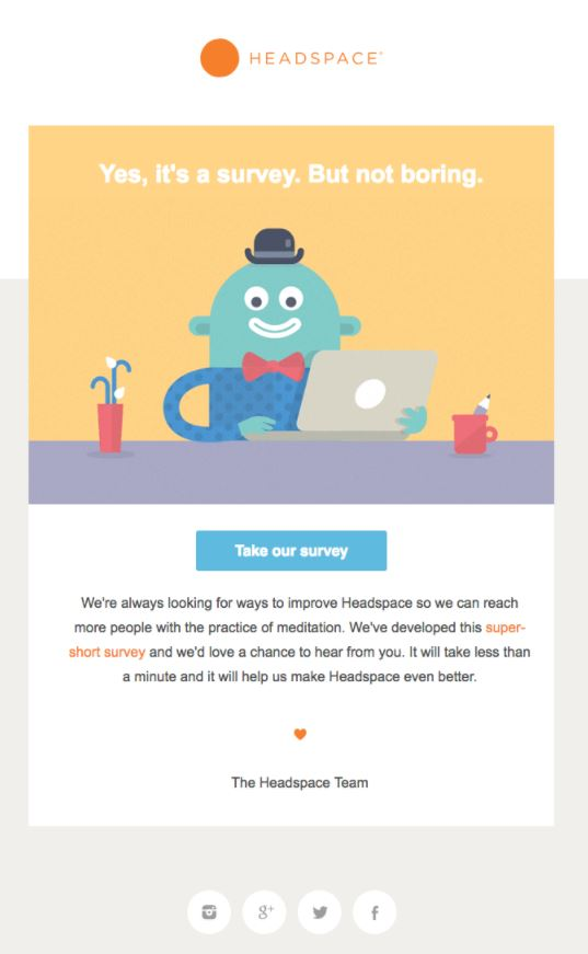 Behavioral Emails - Survey Email - Headspace