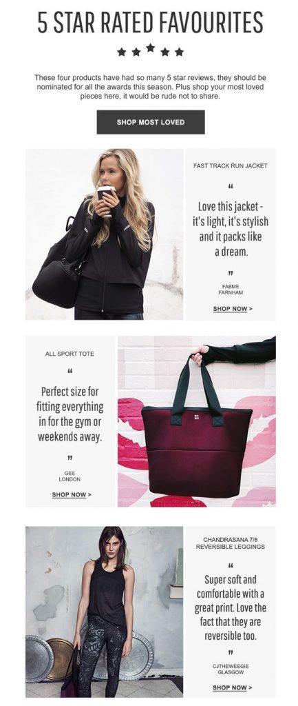 Behavioral Emails - Social Proof Email - Sweatybetty