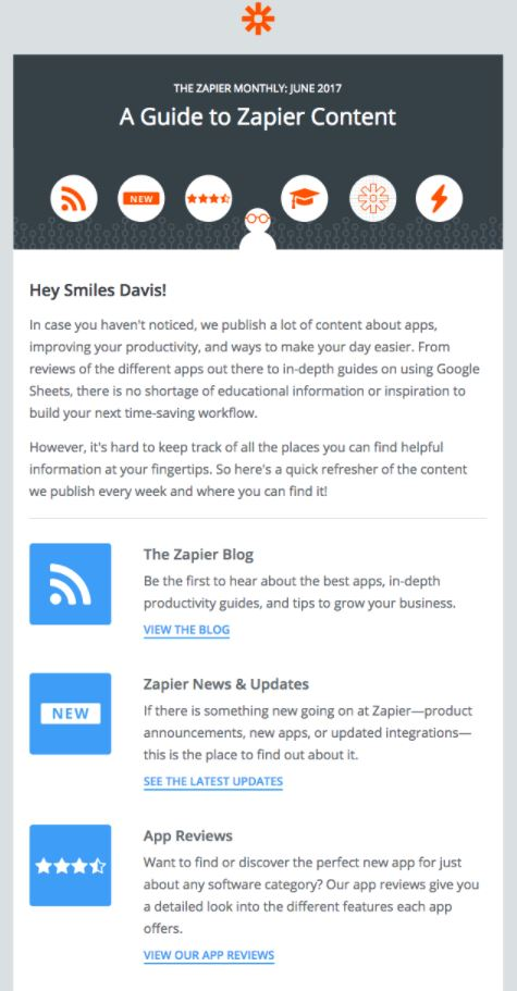 Behavioral Emails - Customer Retention Email - Zapier