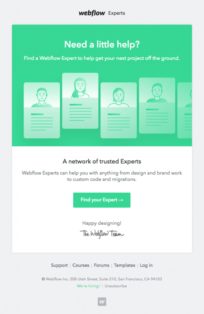 Onboarding Emails - Nudge Email - Webflow