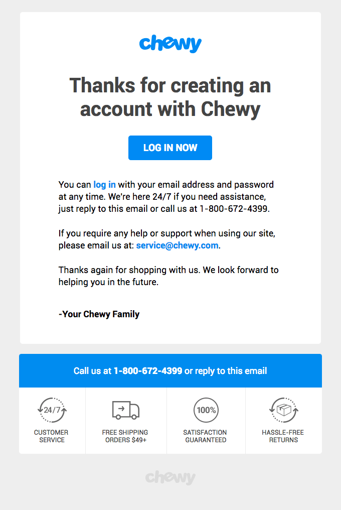 Onboarding Emails - Getting Started Email - Chewy