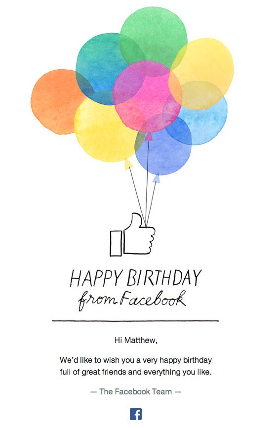 Promotional Emails - Birthday Email - Facebook