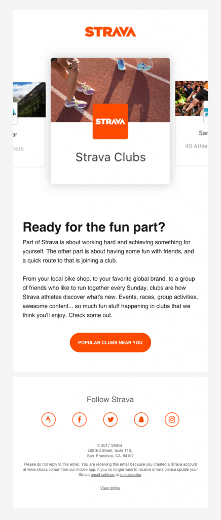 Promotional Emails - Clickbait Email - Strava