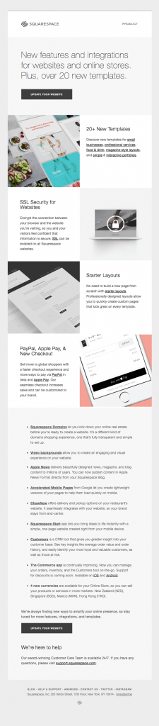 Promotional Emails - Informational Email - Squarespace