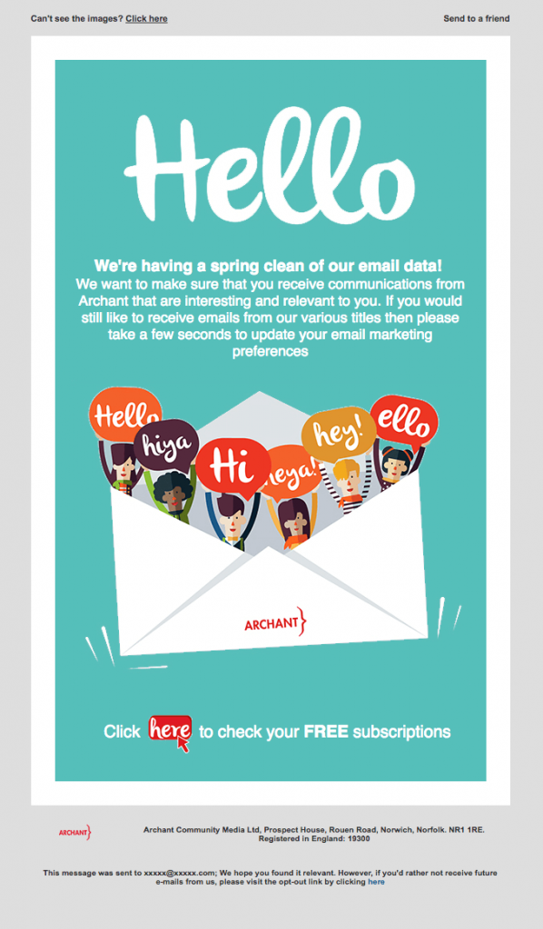 Transactional Emails - Opt-In Email - Archant