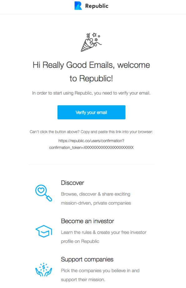 Transactional Emails - Opt-In Email - Republic
