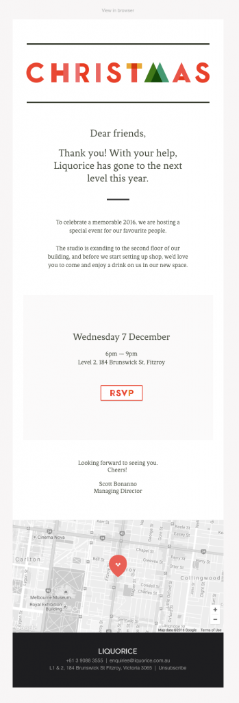 Transactional Emails - RSVP Email - Liquorice