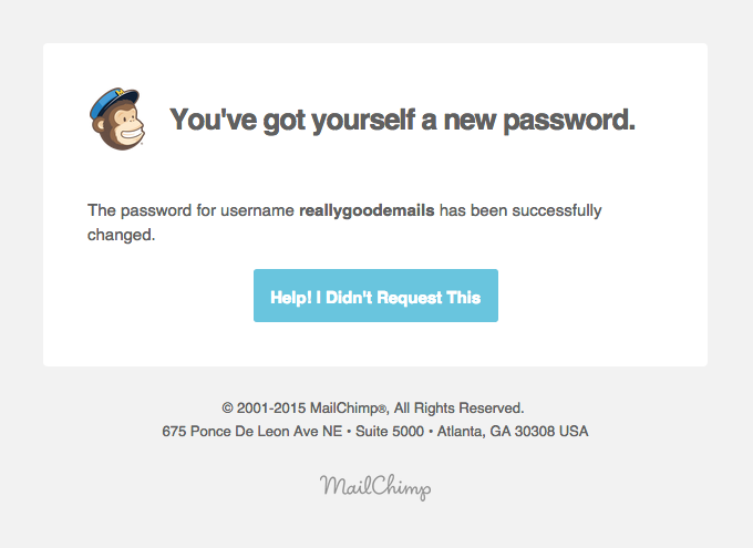 Transactional Emails - Password Reset Email - Mailchimp