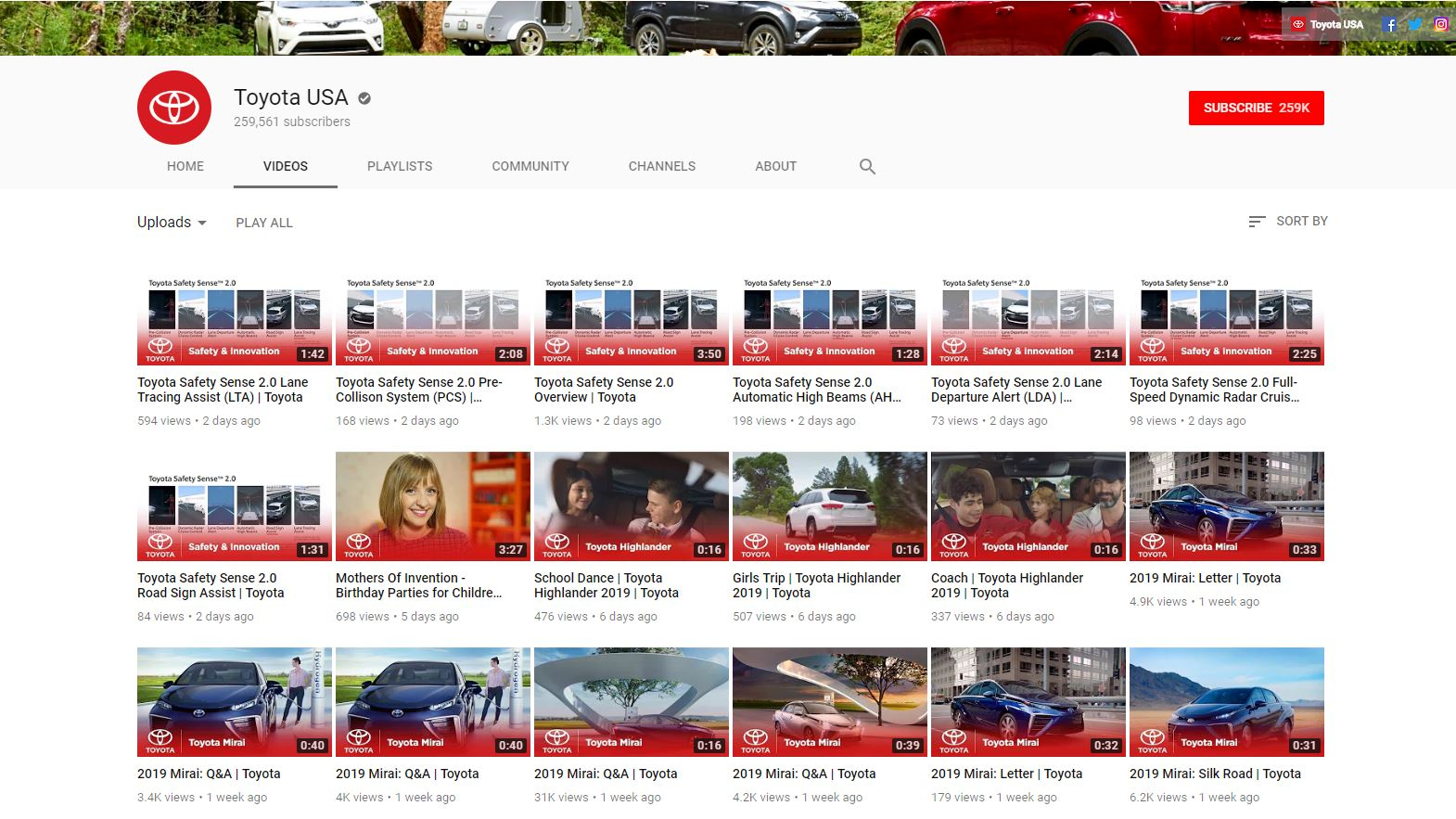 YouTube SEO Video Content Strategy - Toyota - Chainlink Relationship Marketing