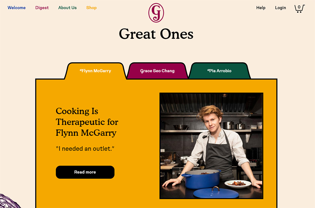 Ecommerce Website Content - Great Jones Cookware Example - Chainlink Relationship Marketing
