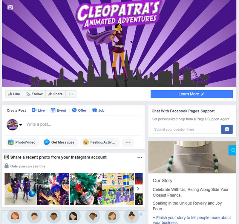 Facebook Event Page Image Example - Krewe of Cleopatra - Chainlink Relationship Marketing