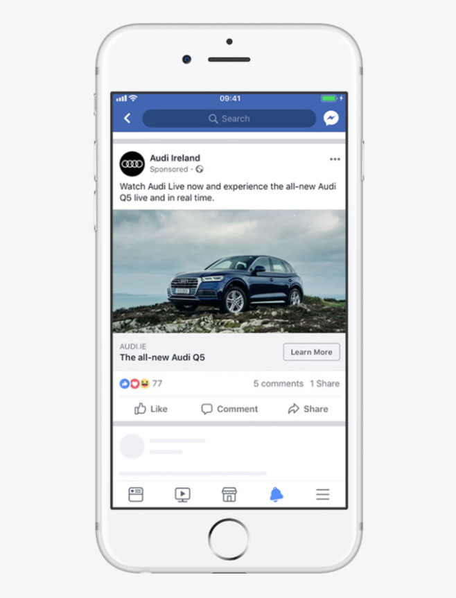 Facebook Mobile Ad Example - Chainlink Relationship Marketing