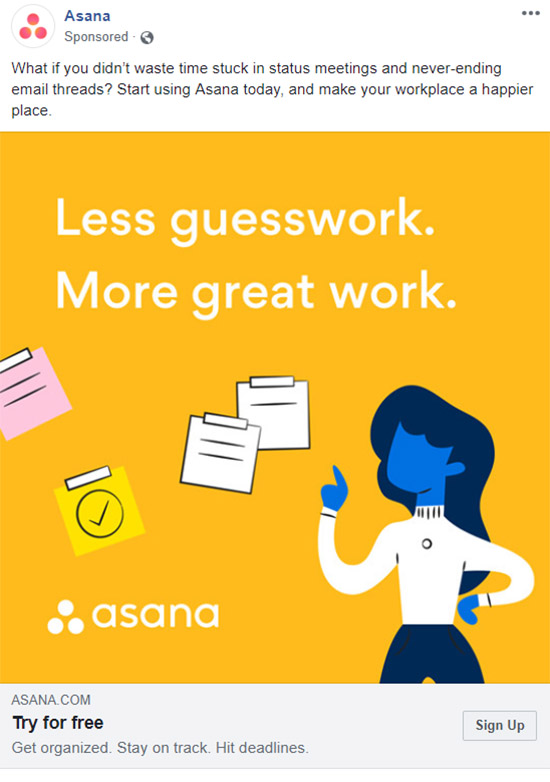 Facebook Ad Asana - Chainlink Relationship Marketing