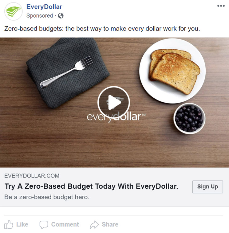 Facebook Ad EveryDollar - Chainlink Relationship Marketing