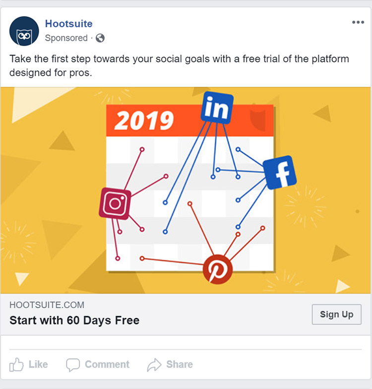 Facebook Ad Hootsuite - Chainlink Relationship Marketing