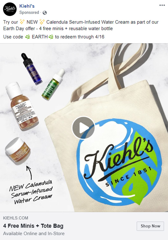 Facebook Ad Kiehls - Chainlink Relationship Marketing