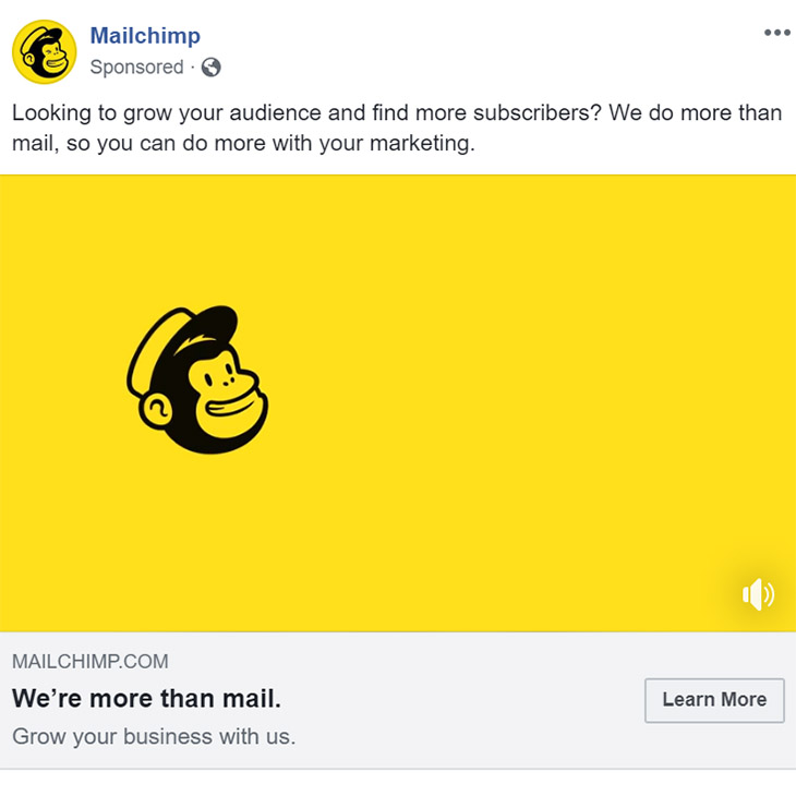 Facebook Ad MailChimp - Chainlink Relationship Marketing