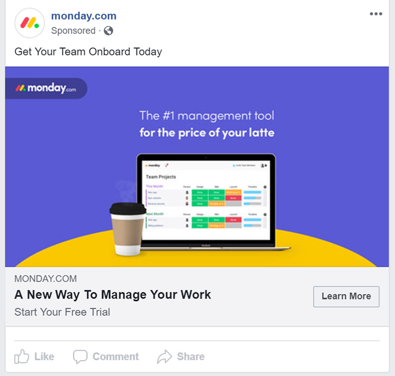 Facebook Ad Monday App - Chainlink Relationship Marketing