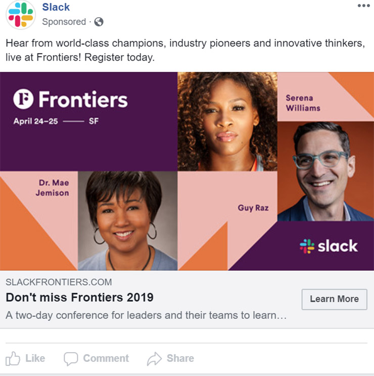 Facebook Ad Slack - Chainlink Relationship Marketing