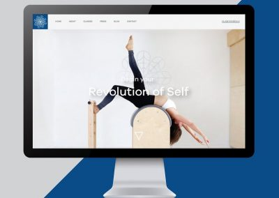 Pilates & Yoga Studio Custom Website with Online Bookings