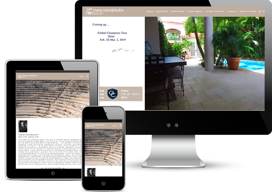 Responsive Real Estate Agent Website Development
