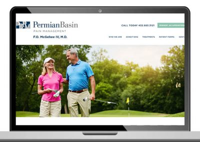 Medical Pain Management Custom Website