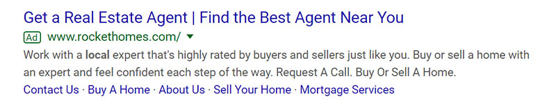 Real Estate Agent Google Ad Example - Chainlink Relationship Marketing