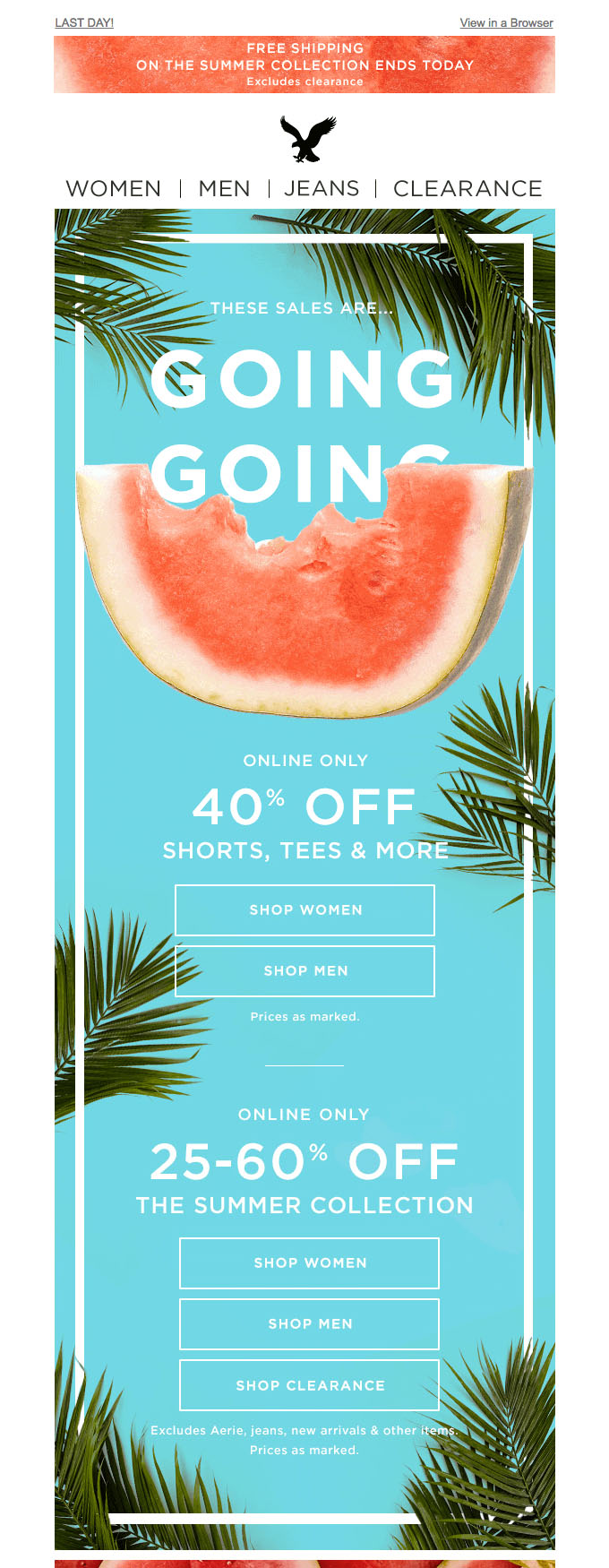 Promotional Emails - Sales Email - American Eagle