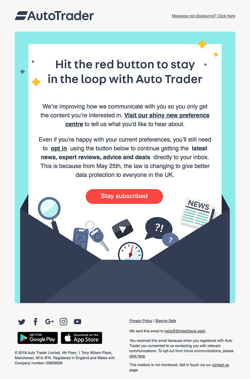 Transactional Emails - Opt-In Email - Autotrader
