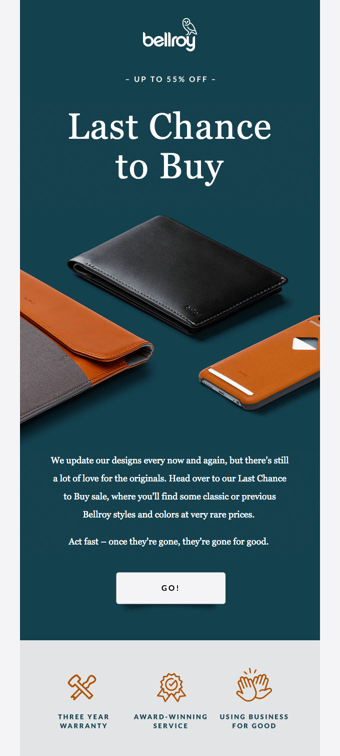 Promotional Emails - Sales Email - Bellroy