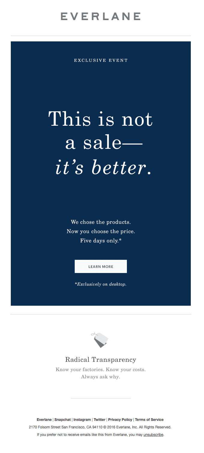Promotional Emails - Sales Email - Everlane