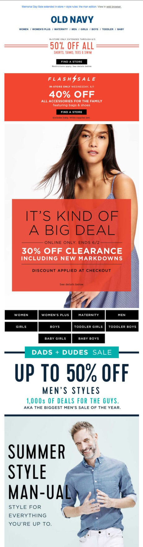 Promotional Emails - Special Offer Email - Old Navy
