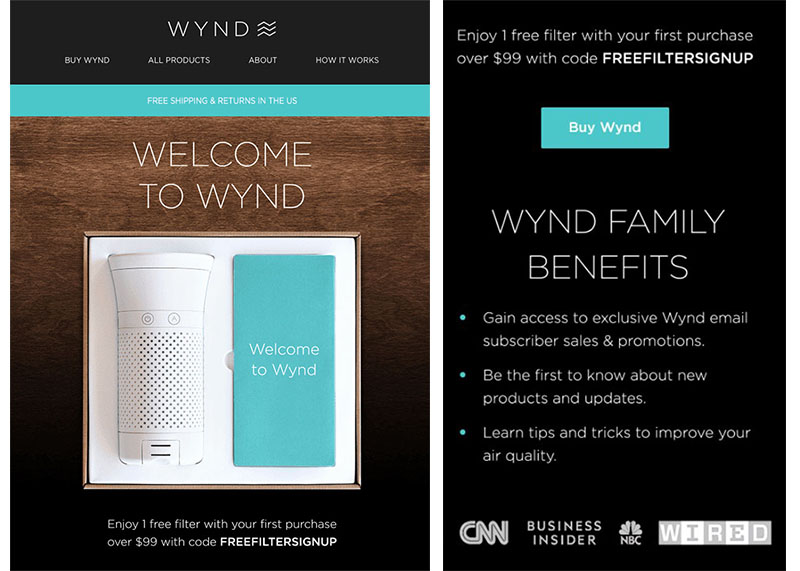Onboarding Emails - Welcome Email - Wynd