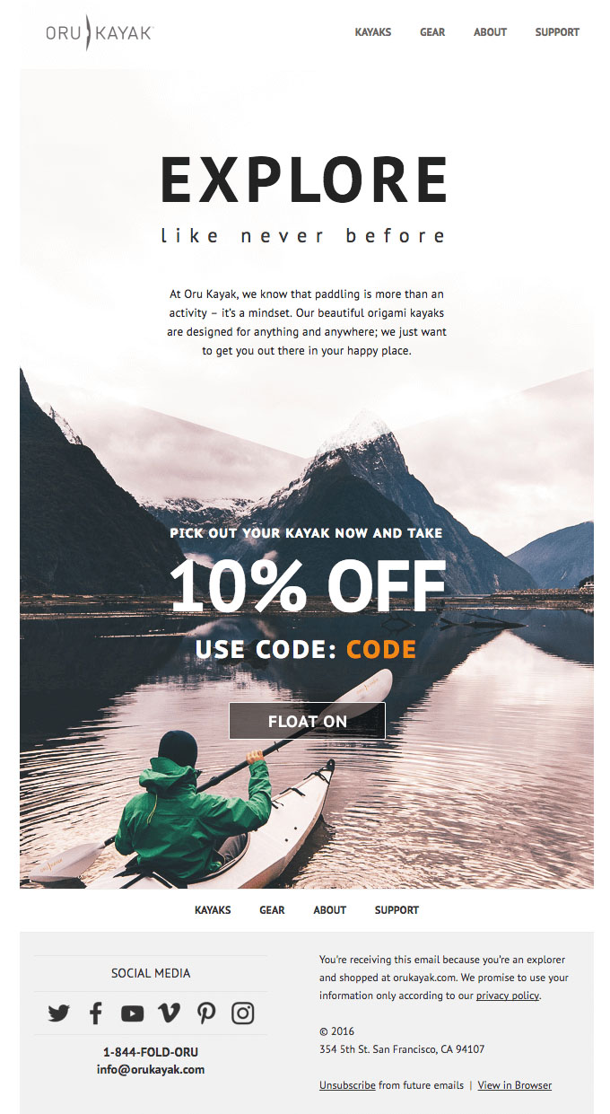 Onboarding Emails - Activation Email - Oru Kayak