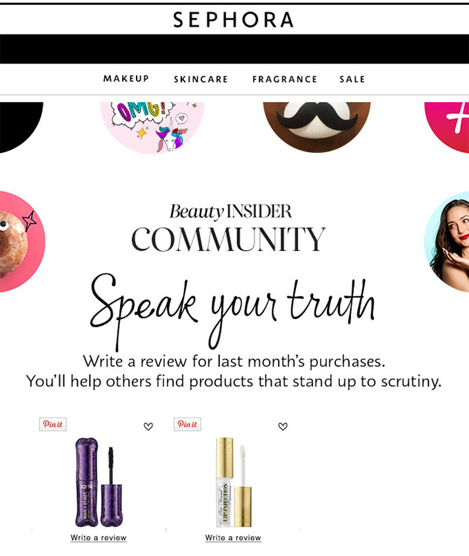 Behavioral Emails - Review Request Email - Sephora