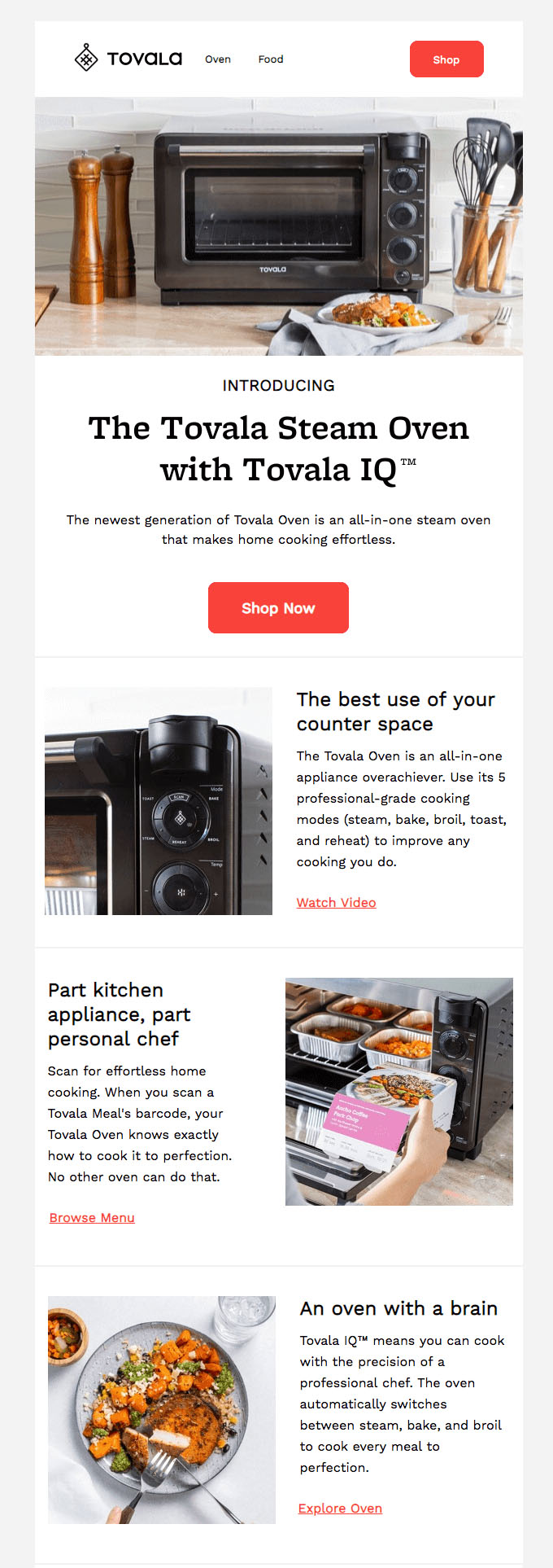 Subscriber Emails - New Product Announcement Email - Tovala