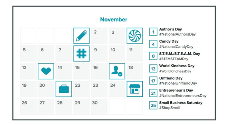 Tweeting Calendar Chainlink Relationship Marketing