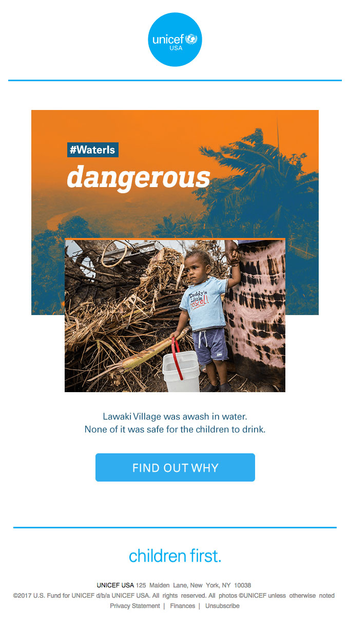Behavioral Emails - Social Community Activism Email - Unicef