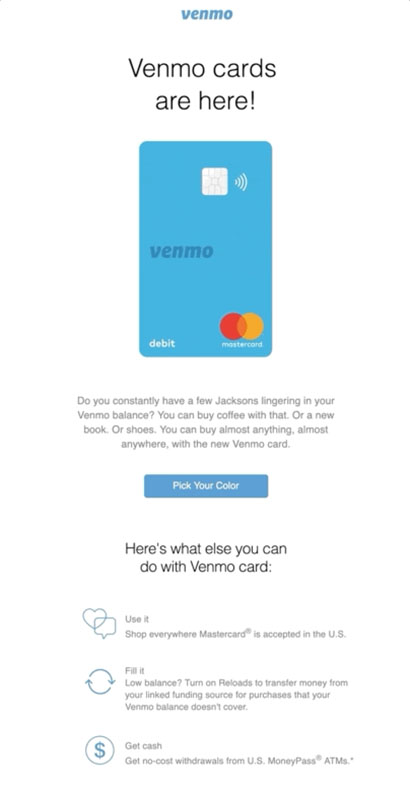 Behavioral Emails - Customer Retention Email - Venmo