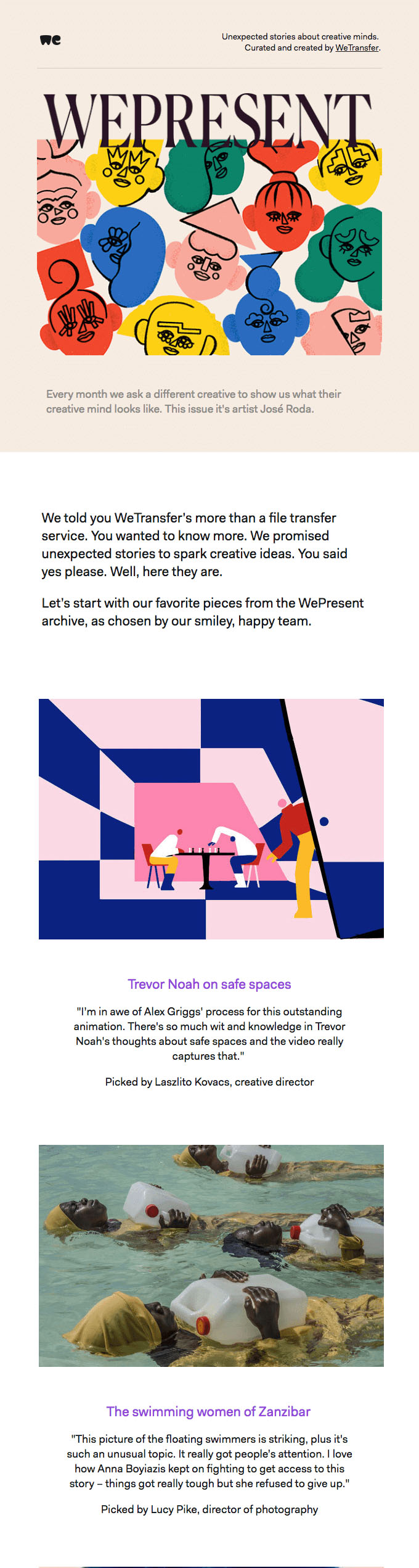 Subscriber Emails - Newsletter Email - WeTransfer
