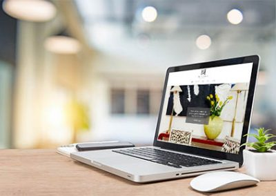 Custom Interior Design Website Development