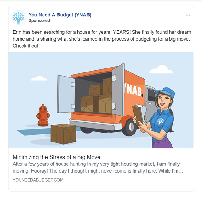 Facebook Ads - Personal Finance Ad Example - YNAB