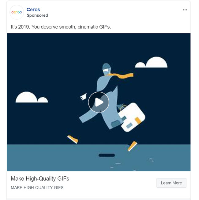 Facebook Ads - Software Ad Example - Ceros