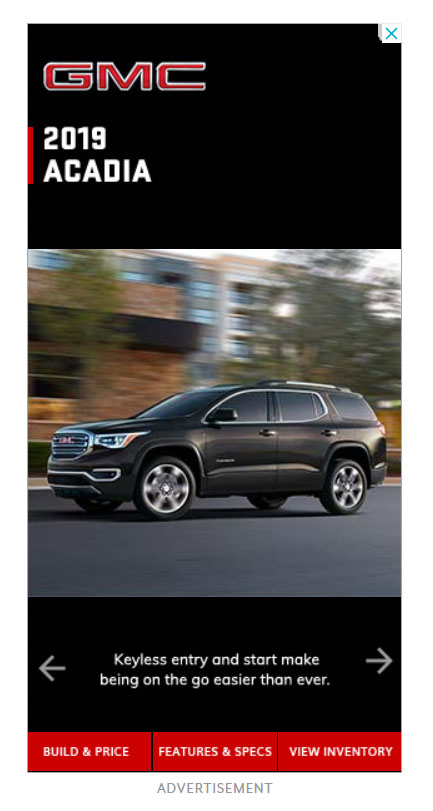 Google Display Ad Example GMC