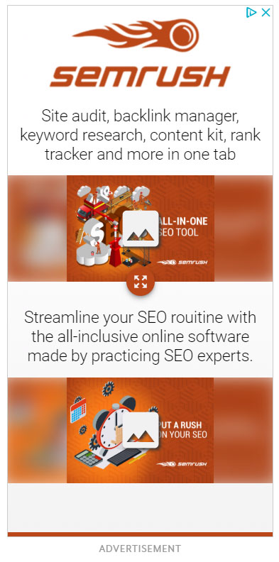 Google Display Ad Example SEMRush