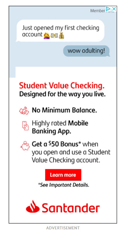 Google Display Ad Example Santander Bank
