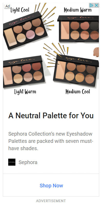 Google Display Ad Example Sephora