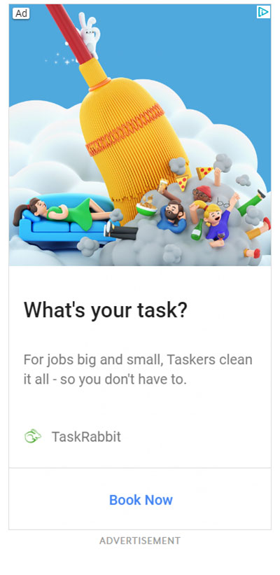Google Display Ad Example TaskRabbit