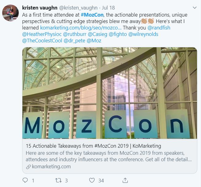 Digital Marketing Conference 2019 - Post Recap - Moz Con